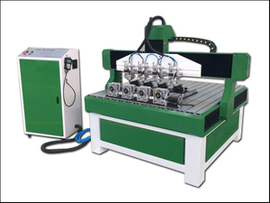 China advertising cnc router with 4 rotary 4 spindle