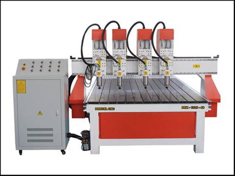 cnc fours multi-heads wood router machine sale.jpg