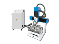 Mini 5 axis aluminium metal mold milling engraving router machine