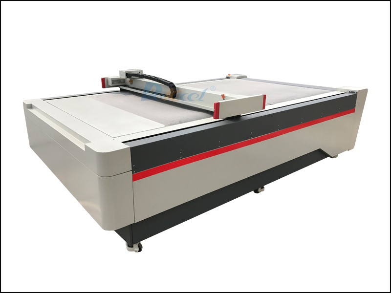 The brief introduction of oscillating knife cutting machine for leather, cloth, car foot mat