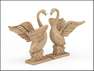 3D sculpture carved by 5 axis cnc wood carving router machine