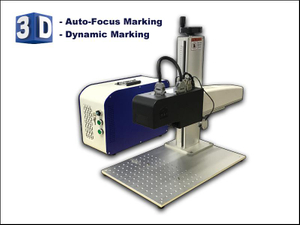 MOPA 3D auto focus dynamic metal depth laser marking machine